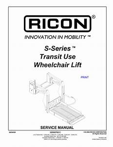Ricon Wheelchair Lift Wiring Diagram