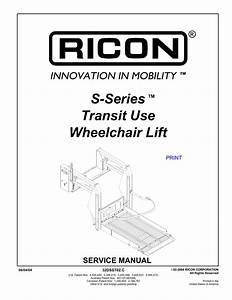 Ricon Lift Wiring Diagram