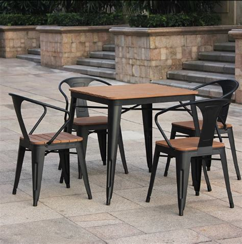 od035 patio outdoor table and chair combination of five