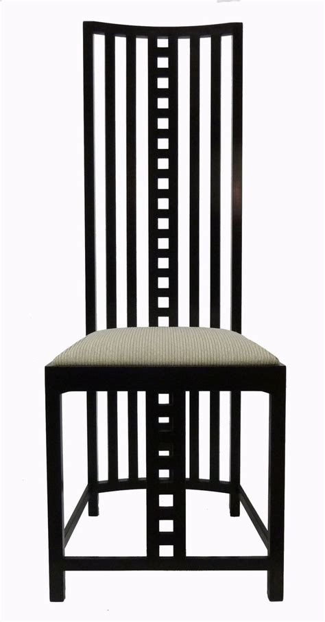 charles rennie mackintosh furniture mackintosh chair with seat back nouveau