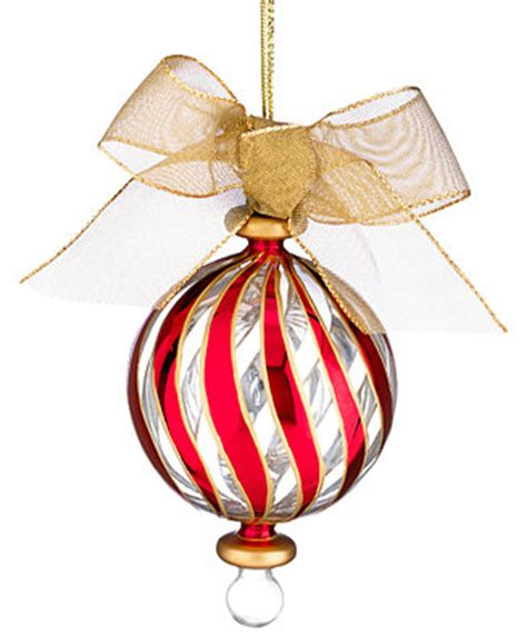 lenox christmas ornaments peppermint stripe holiday