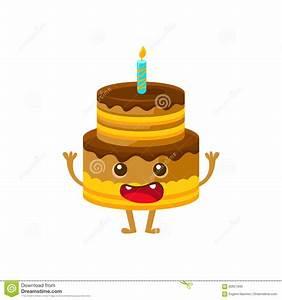 Gateau Anniversaire Dessin Animé : g teau d 39 anniversaire de chocolat avec la bougie le joyeux anniversaire et le personnage de ~ Melissatoandfro.com Idées de Décoration