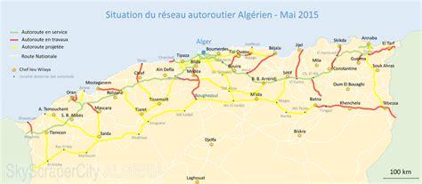 Carte Des Autoroutes Du Centre De La by Liste Des Autoroutes De L Alg 233 Rie Wikimonde