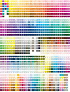 Pantone Color Reference Chart