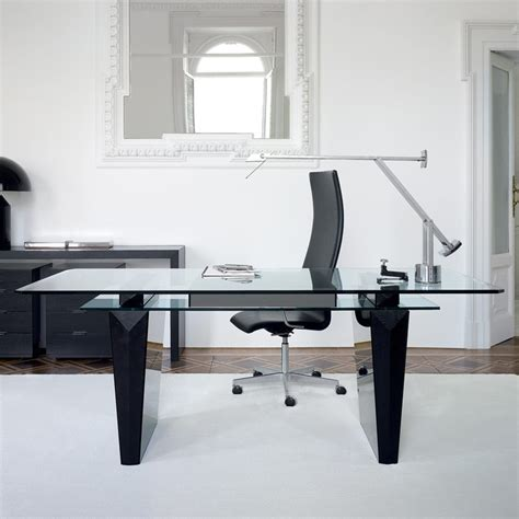 black home office desk awesome modern office desk idea with glass top black