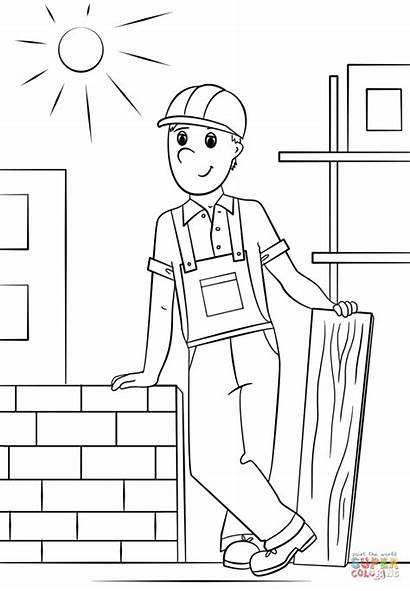 Worker Coloring Construction Pages Printable Irish Community