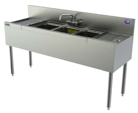 48 3 compartment sink perlick tsd43r 48 in underbar 3 compartment sink unit w