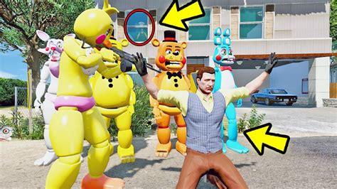 animatronics vs hello neighbor mod gta v five nights at