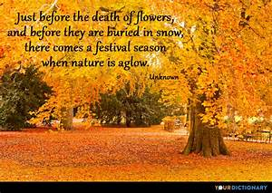 Just before the... Autumn And Death Quotes