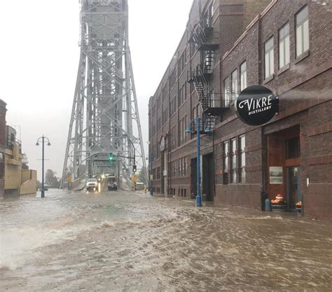 Garden Lake Ave by Powerful Winds Whip Up Waves Flood Lake Superior