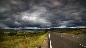 Road, Clouds, Storm, Landscape, Hd, Wallpaper