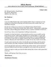 Cover Letter Exles Waitress by Waitress Cover Letter Sle