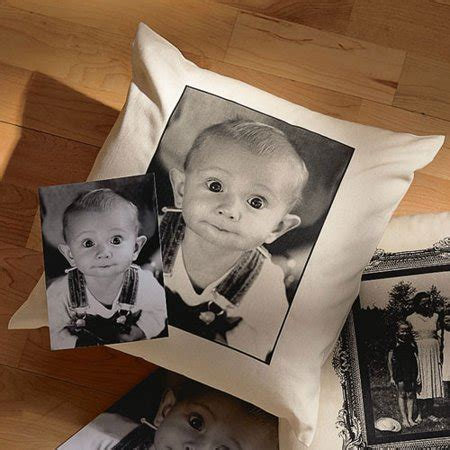 personalized photo pillows personalized photo accent pillow with plain border
