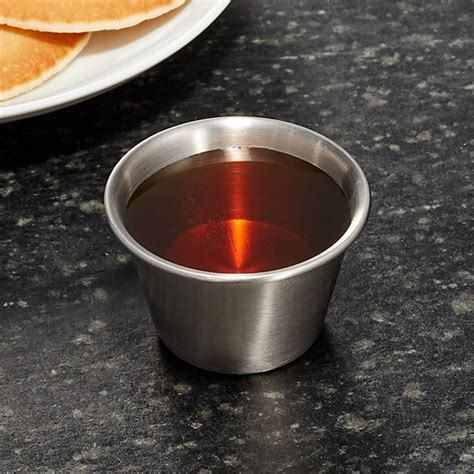 Stainless Steel Condiment Cups   Reviews   Crate and Barrel