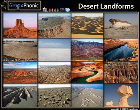 desert landforms geomorphology purposegames
