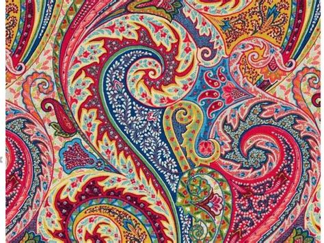 Blue Paisley Upholstery Fabric by Paisley Linen Fabric Modern Paisley Upholstery Fabric By The