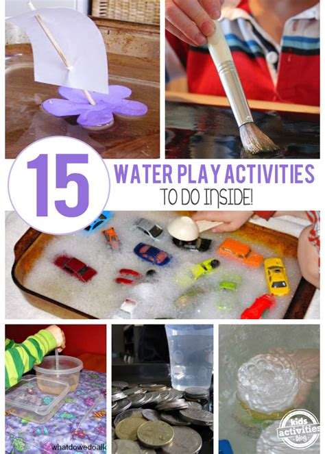 15 Creative Indoor Water Play Ideas  Kids Activities