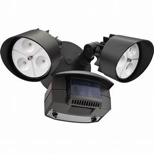 lithonia bronze 2 head outdoor led security floodlight With lithonia lighting white led outdoor flood light with motion sensor