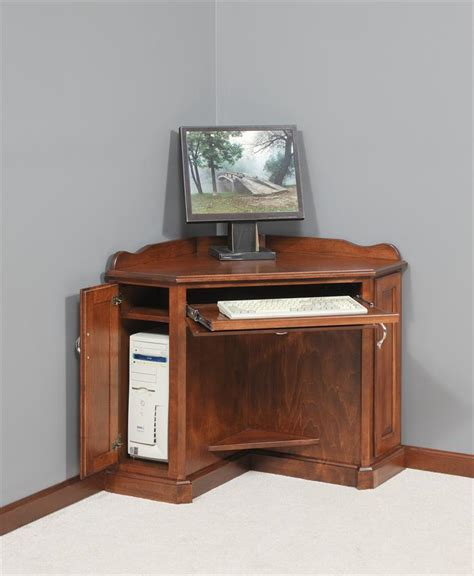 corner computer desk cabinet amish corner computer armoire amish computer desks