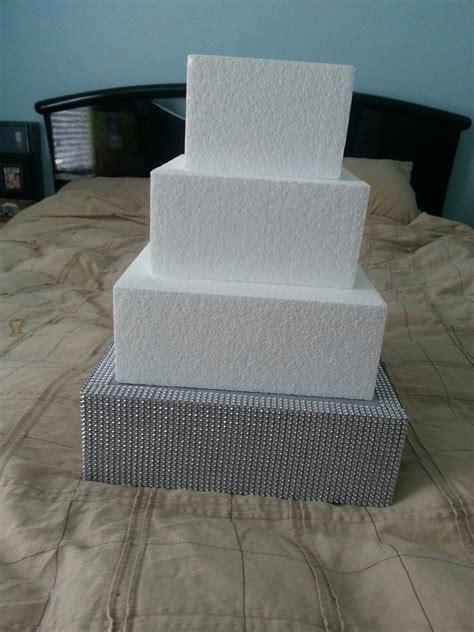 rhinestone wrap cake stand weddingbee photo gallery