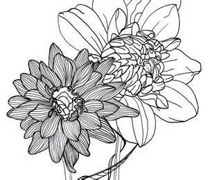 Line Art Drawings Flowers