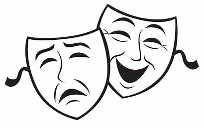 Drama Masks Clipart Clip Silhouette Comedy Acting