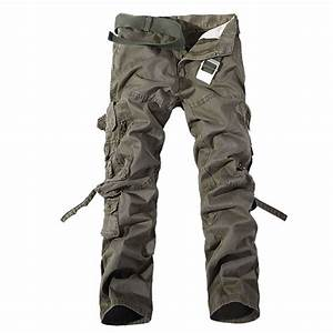 HOT Casual Mens Military Army Cargo Straight Army Combat ...