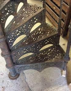 Victorian Cast Iron Spiral Staircase - Authentic Reclamation
