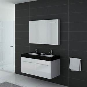 meuble de salle de bain double vasque noir et blanc With meuble double vasque blanc