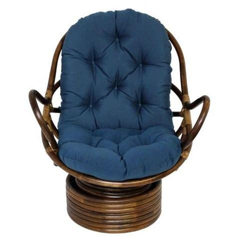 rattan swivel rocker with solid cotton duck fabric cushion