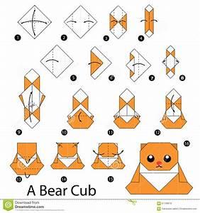 Comment Faire Des Origami : instructions tape par tape comment faire l 39 ours de l ~ Nature-et-papiers.com Idées de Décoration