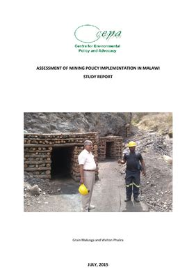 assessment  mining policy implementation  malawi cepa