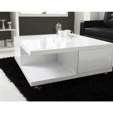 Only downside is the one spot with a ring from condensation of a cup (see pictures) coffee table with partial glass top. White High Gloss Coffee Table with Storage Drawers - Tiffany Range FOL100282 5056096017199 | eBay