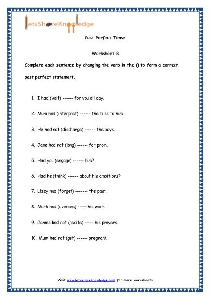 grade 4 english resources printable worksheets topic past tenses lets share knowledge