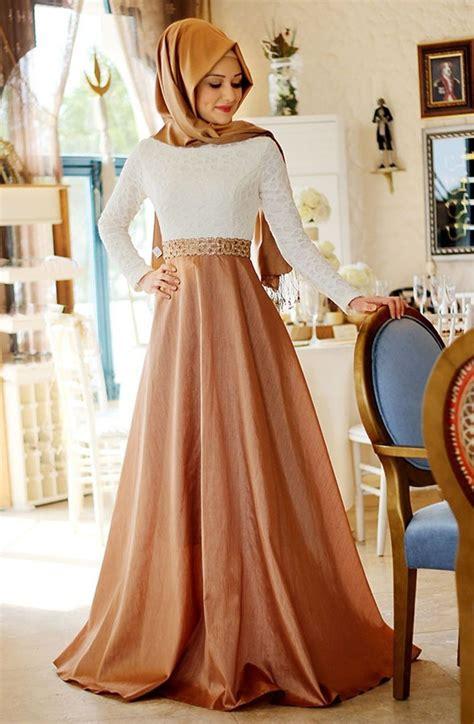 champagnefuchsia long muslim evening dress hijab