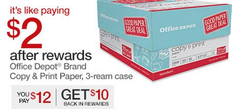 Office Depot Coupons July 2015 by Paper Deals 3 Reams For 67 162 Each Coupons 4 Utah