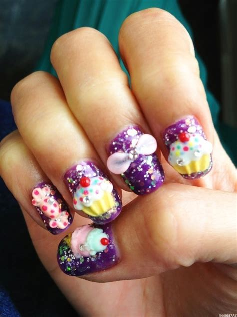 3d nail designs cupcake 3d nail manicure from milly s hair