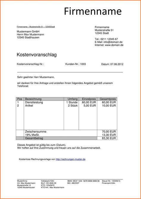 Fliesenleger Rechnung Beispiel by 8 Angebot Gartenpflege Muster Friend Sofraven Scourtpark