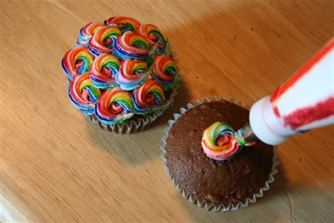 cupcakes ideas colorful swirled cupcakes chica and jo