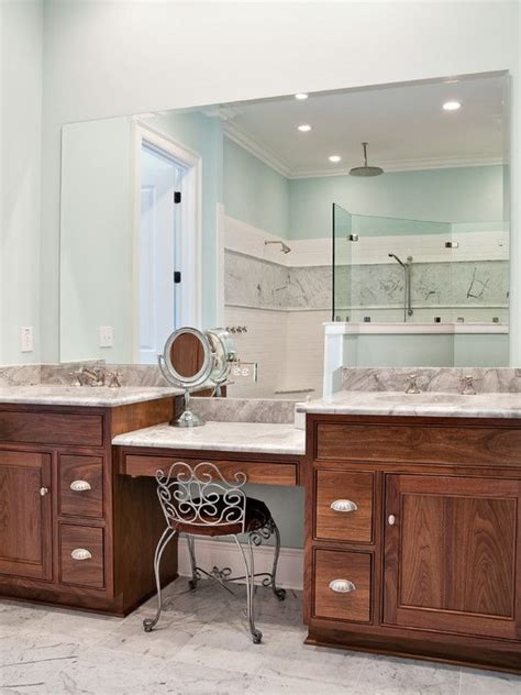 master bathroom makeup vanity use idea only with one sink and a bigger vanity we also only