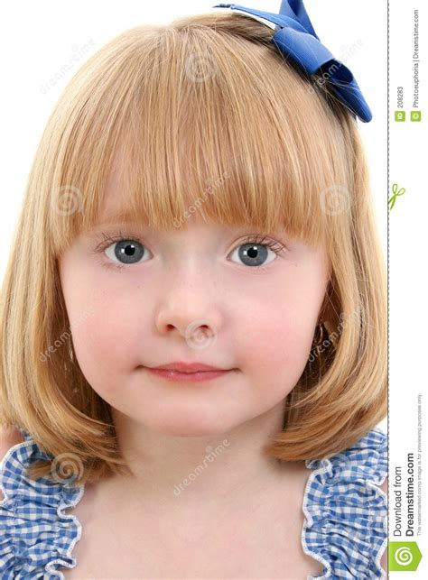 Beautiful Little Girl With Strawberry Blonde Hair Stock