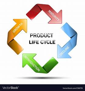 Diagram Of Product Life Cycle Royalty Free Vector Image