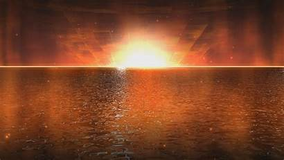 4k Animated Moving Sunset Water 2160p Golden