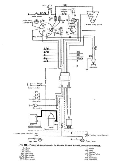 B7800 Kubotum Tractor Wiring Diagram by Kubota T1600h Manual Auto Electrical Wiring Diagram