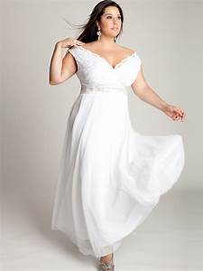 Short white dresses plus size 2014 2015 fashion trends for Off white plus size wedding dresses