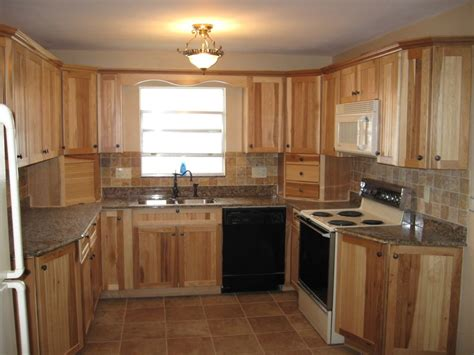 tile backsplash lowes hickory kitchen cabinets characteristic materials