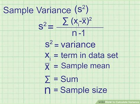 easy ways  calculate variance wikihow