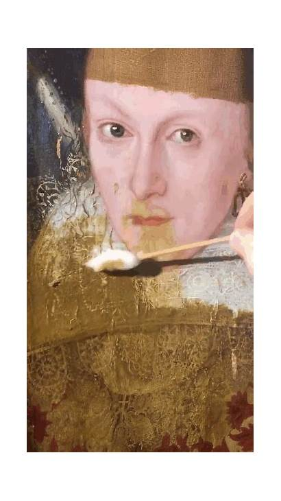 Restoration Painting Lisa Mona Woman 200 Paintings