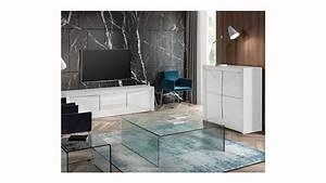 Casa Meuble Tv : achetez votre meuble tv design 2 portes laqu blanc arc pas cher sur loft ~ Teatrodelosmanantiales.com Idées de Décoration