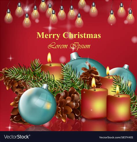 merry christmas card background happy royalty  vector